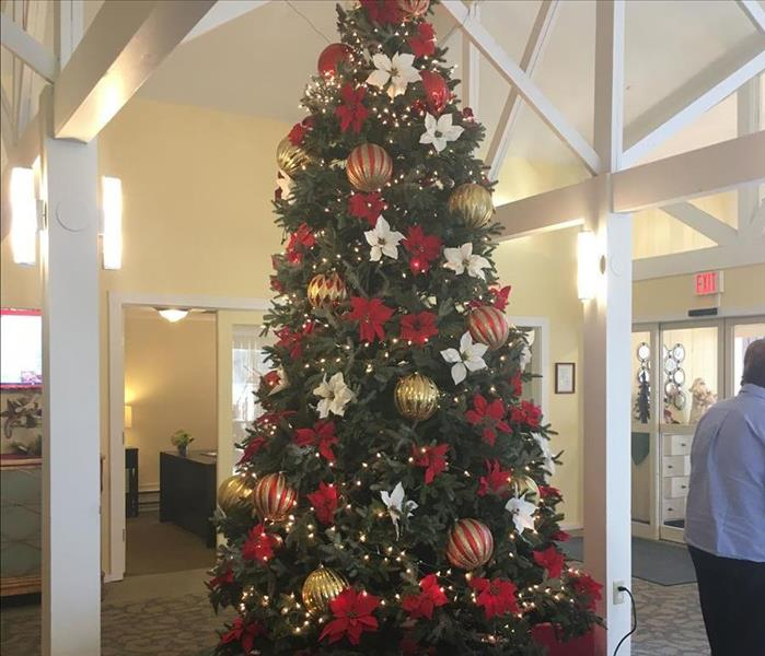 A beautiful Christmas tree at the Country House Assisted Living Facility