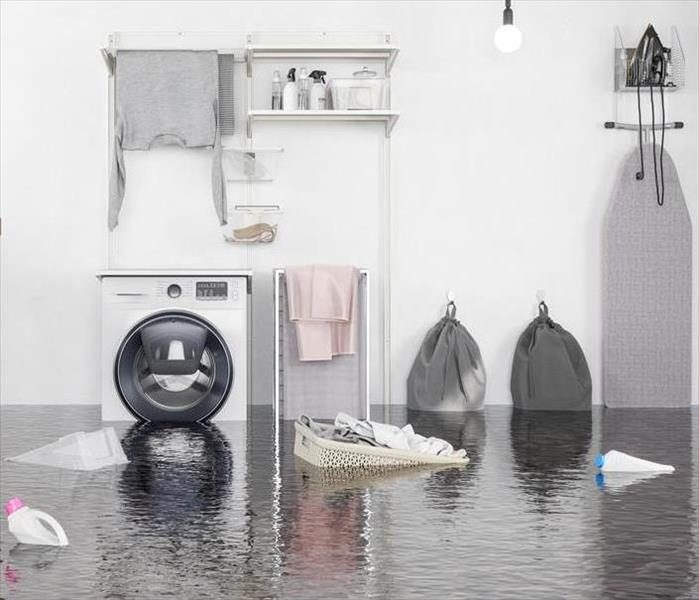 Flooded laundry area