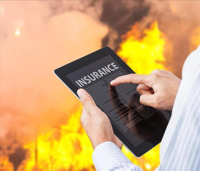 fire insurance workup on tablet